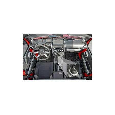 Rugged Ridge 11151.95 Interior Trim Kit For Jeep Wrangler (JK), Brushed silver