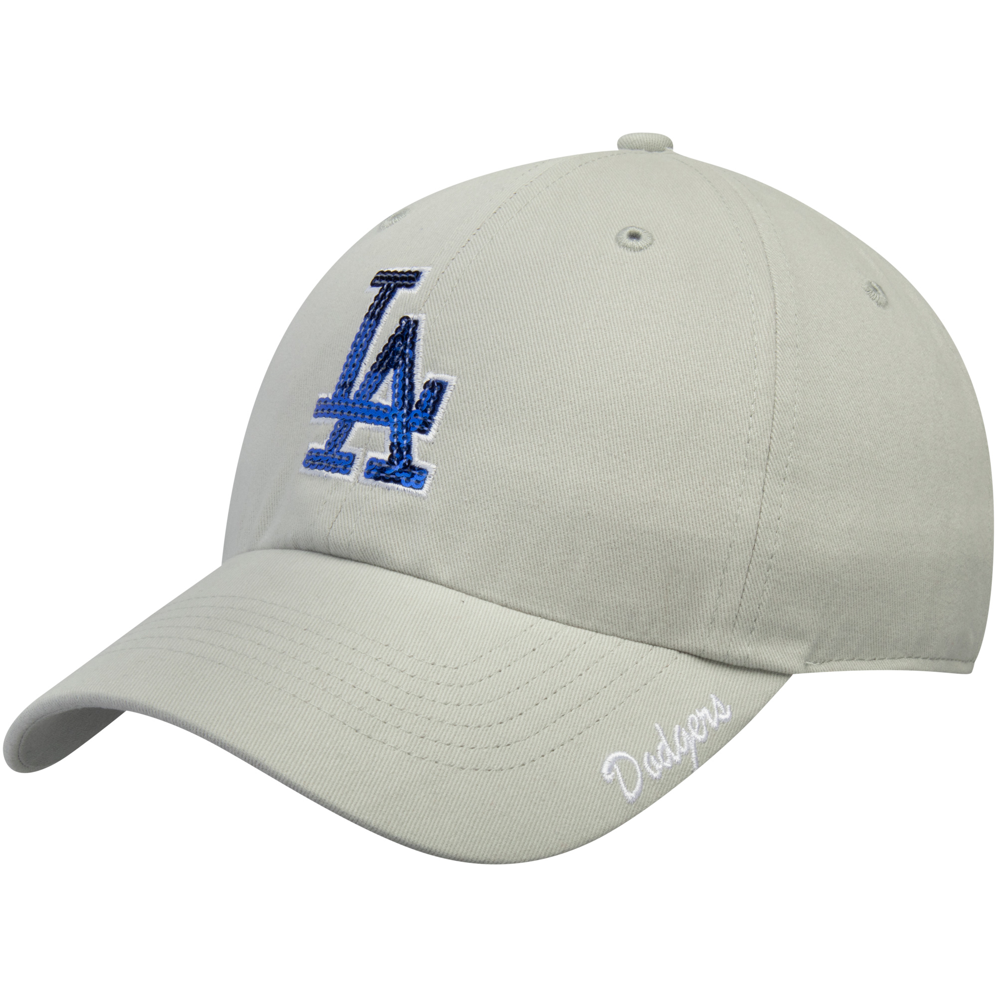 Women's '47 Gray Los Angeles Dodgers Sparkle Adjustable Hat OSFA by TWINS ENTERPRISE INC/47 BRAND