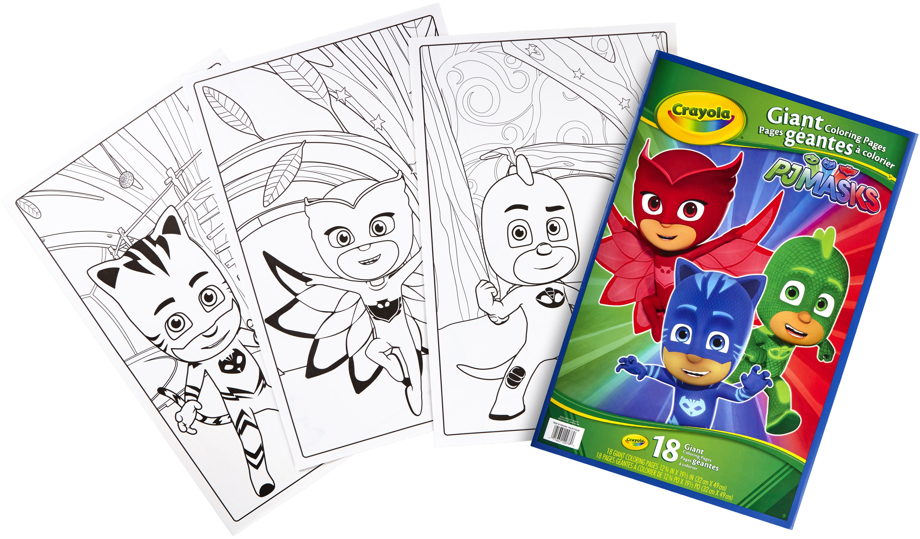 - Crayola Giant Coloring Pages Featuring Disney'S Pj Masks - Walmart