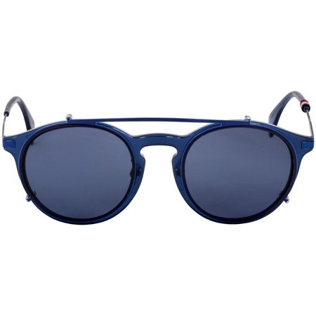 Tommy Hilfiger Panto Blue Metal Frame Blue Lens Unisex Sunglasses TH1504FC0PJP99502