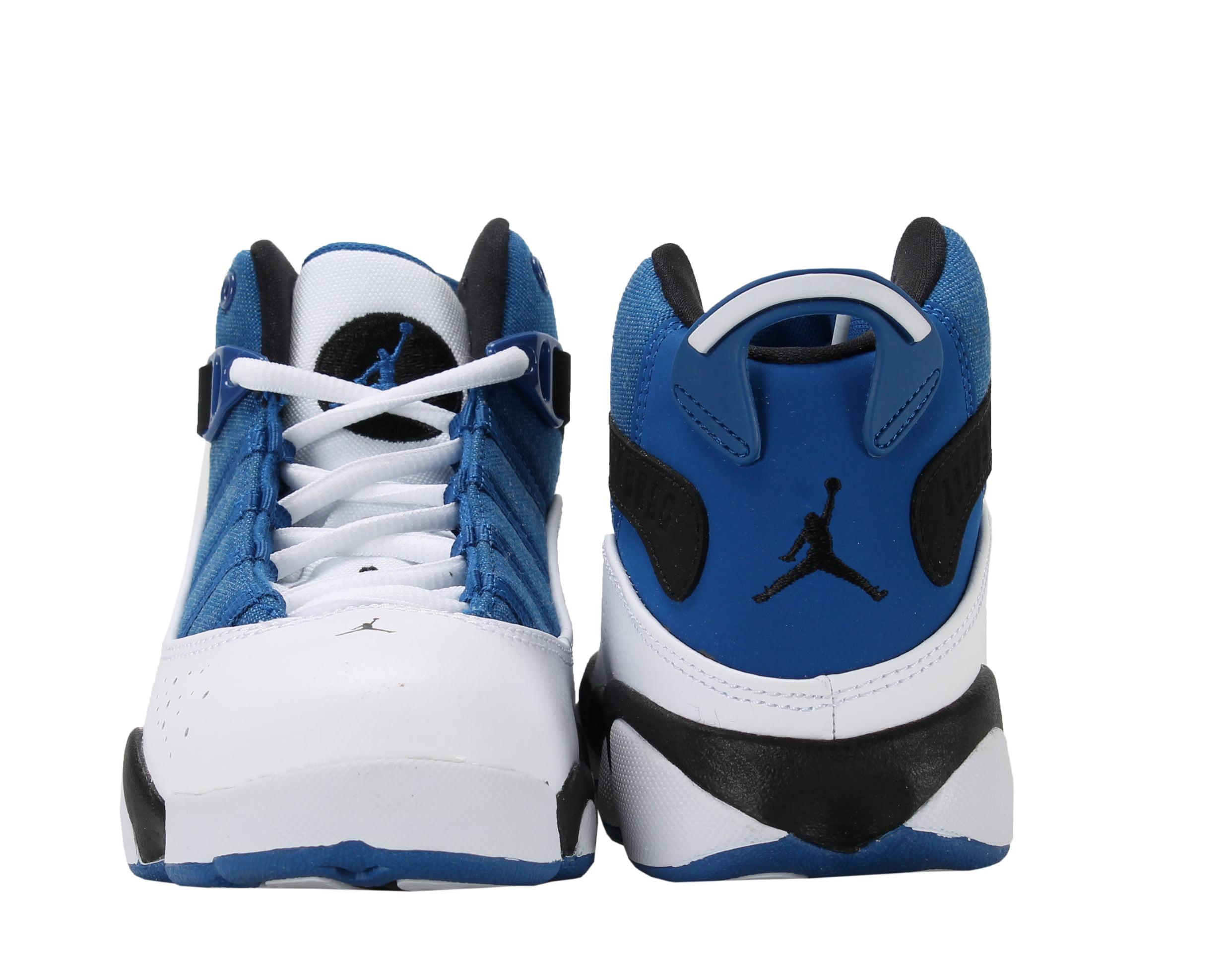 626a7aee8da1d4 Jordan - Nike Air Jordan 6 Rings BP Blue Blk-Wht Little Kids Basketball  Shoes 323432-400 - Walmart.com