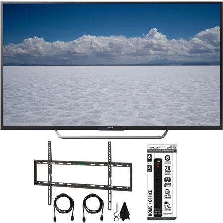 Sony XBR-65X750D – 65″ Class 4K Ultra HD TV w/ Flat Wall Mount Bundle includes TV, Flat Wall Mount Ultimate Kit and 6 Outlet Power Strip with Dual USB Ports