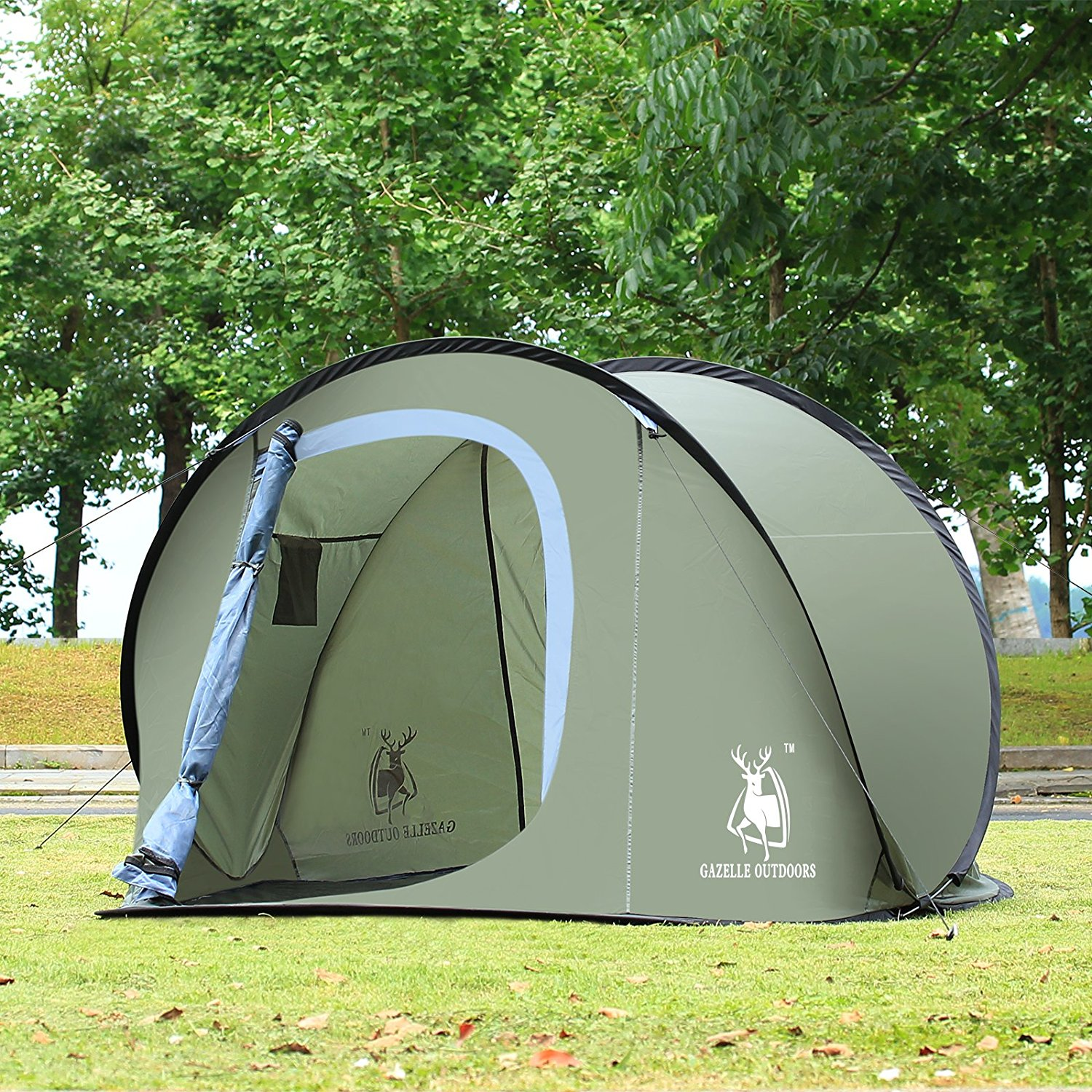 C&ing Hiking Easy Setup Outdoor Pop Up Tent Army Green & Pop up screen tent with floor | Compare Prices at Nextag