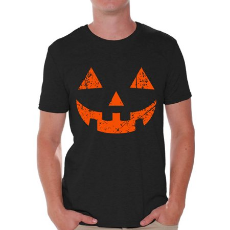 Awkward Styles Halloween Shirts for Men Jack O' Halloween Graphic Shirt for Men Funny Pumpkin Tee Spooky Halloween Fun T-shirt for Men