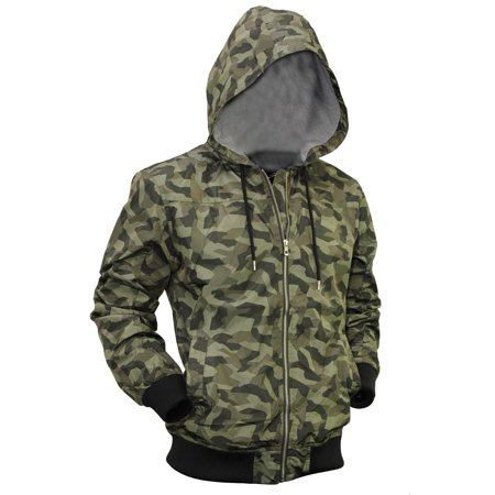 Mens Windbreaker Jacket Lightweight Slim Fit Zip Up Hoodie