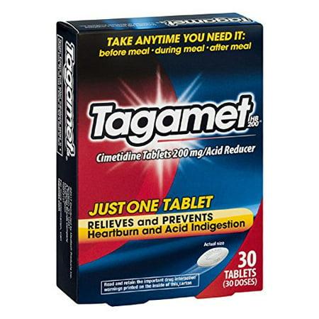 4 Pack Tagamet Acid Reducer, 200mg Cimetidine Tablets, 30 Count each Tagamet Acid Reducer, 200mg, 30-count Tablets, 30 Count