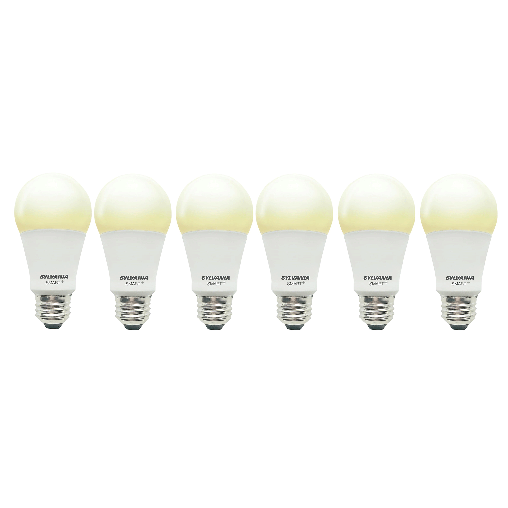 Sylvania Smart+ Bluetooth Soft White A19 LED Light Bulb w/ Apple & Siri (6 Pack)