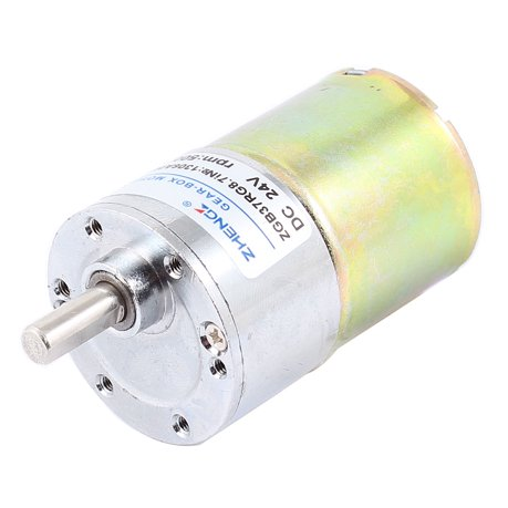 Unique bargains dc 24v 500 rpm 6mm dia shaft magnetic for 500 rpm electric motor