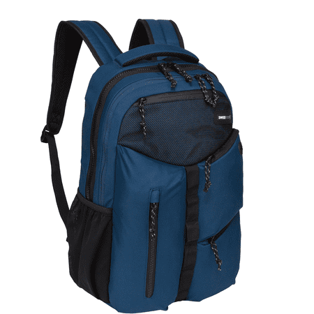 SwissTech Appenzell Backpack with Laptop and Tablet Sleeve School Backpack, Blue