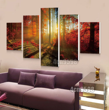 Product Image On Clearance My. Way 5 Pcs Frameless Canvas Prints Pictures,  Morden Abstract Paintings,