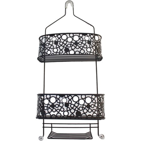 Bubbles Shower Caddy, Black - Walmart.com