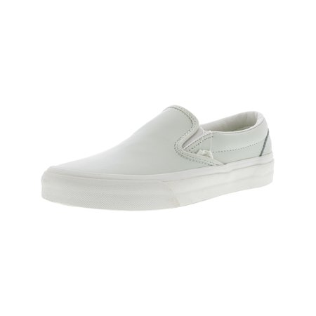 346c2bc9a827d9 Vans - Vans Classic Slip-On Leather Zephyr Blue   Blanc De Ankle-High  Skateboarding Shoe - 9.5M 8M - Walmart.com