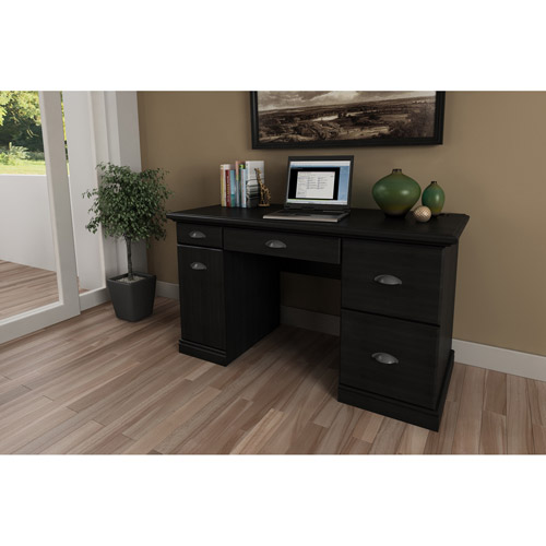 Better Homes And Gardens Computer Desk, Brown Oak - Walmart.Com