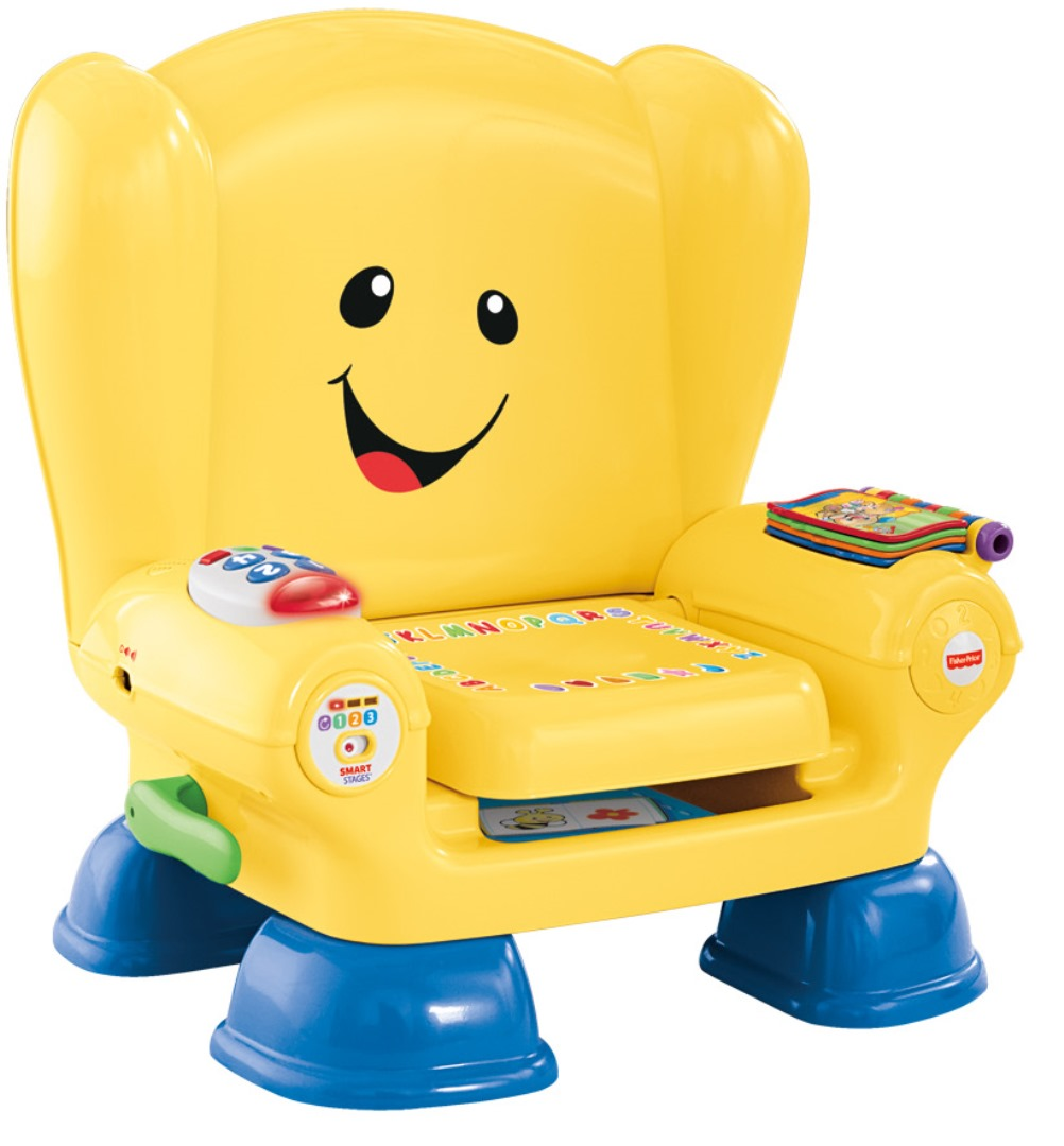 fisher-price laugh & learn smart stages chair yellow - walmart