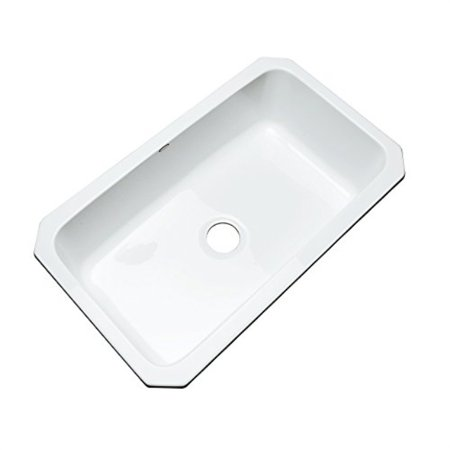 dekor sinks 58000um brookwood single bowl undermount cast acrylic kitchen sink, 33