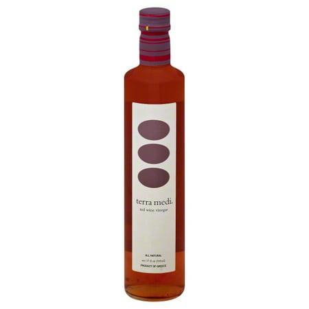 Greek Farms Terra Medi  Red Vinegar, 17 oz