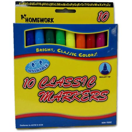 A Plus Homework 1939516 Markers Classic Watercolor Pack of 10 - Case of 48 - image 1 de 1