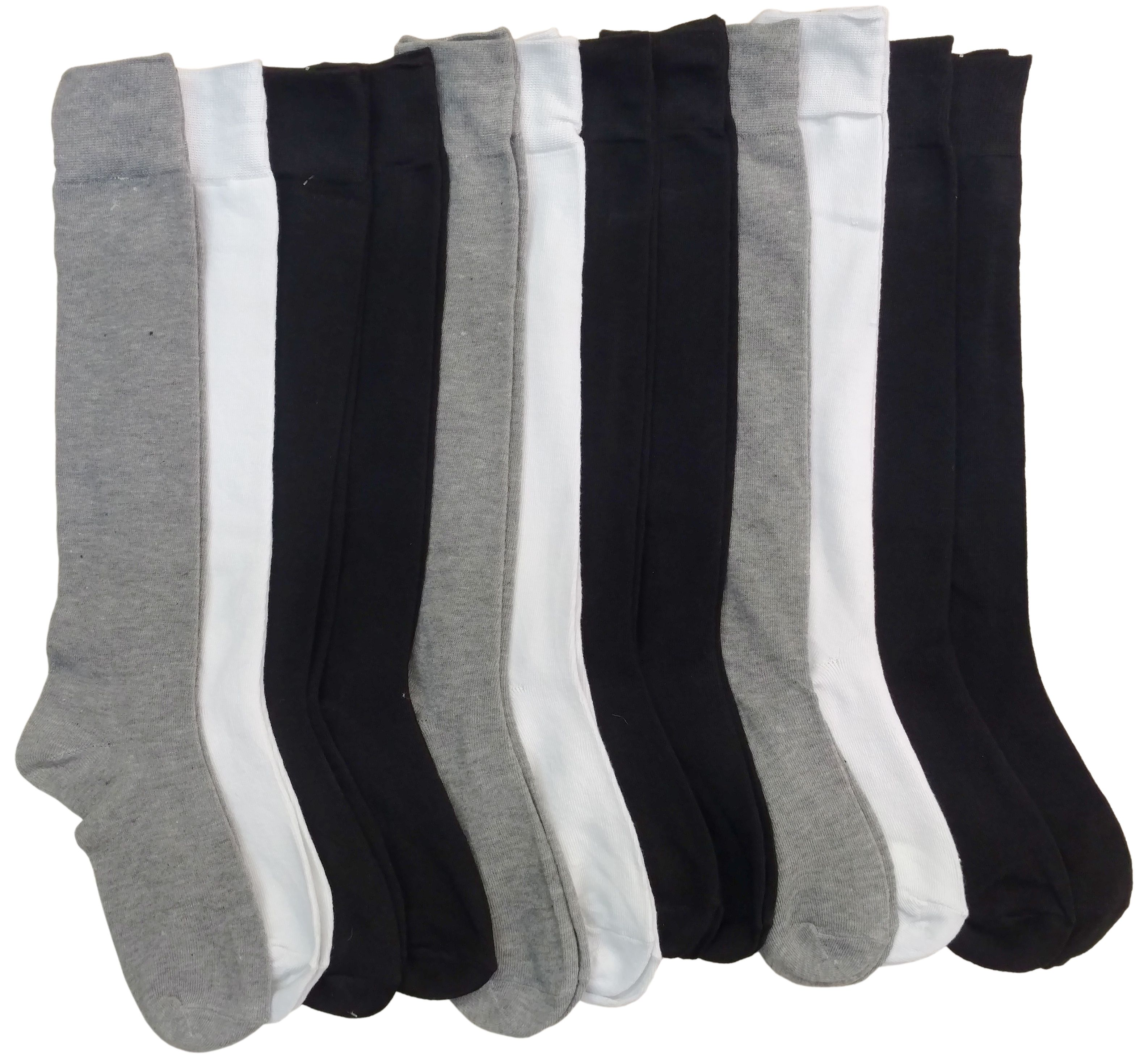 12 Pairs Womens Knee High Socks, Boot Socks, Long Socks