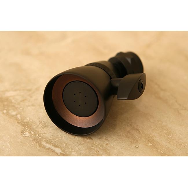 Kingston Brass Oil-Rubbed Bronze Solid Brass Adjustable Shower Head