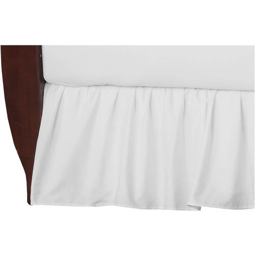 American Baby Company 100 Percent Cotton Percale Crib Bedskirt, White by American Baby Company