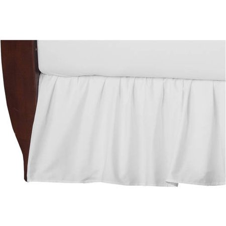 American Baby Company 100 Percent Cotton Percale Crib Bed Skirt, White