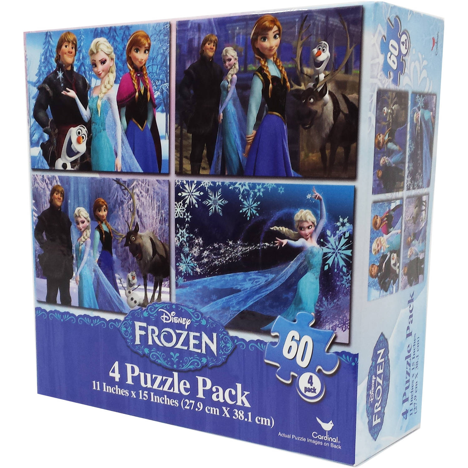 Disney Frozen 4 Basic Puzzle Box With Rope Handle by Cardinal Games