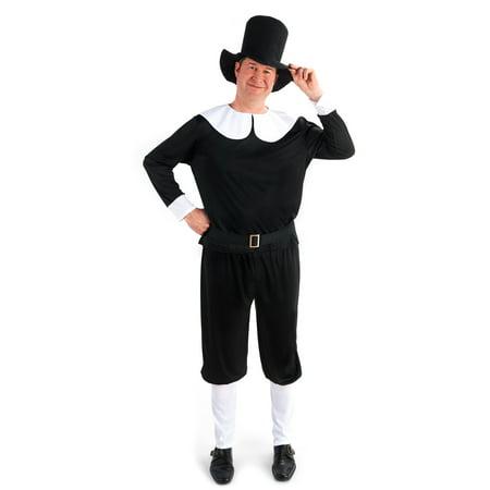 Plymouth Pilgrim Male Adult Plus Costume - Pilgrim Dress Costume