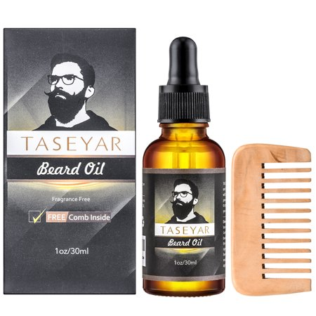 taseyar natural beard oil with mustache comb gromming kit fragrance free leave in conditioner. Black Bedroom Furniture Sets. Home Design Ideas