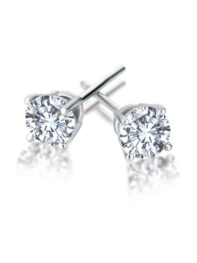2b0a71c0e Product Image 1/4 Carat Natural Round Diamond Stud Earrings in 14K White  Gold (IJ-
