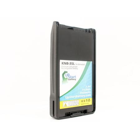 KNB-55L Battery for Kenwood KNB-57L, TK-2360, KNB-24L, TK-2140, TK-3160, TK-3360, TK-2170, TK-3170 Two-Way Radio (2000mAh, 7.4V, Lithium-Ion)