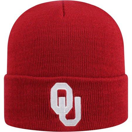 Youth Russell Crimson Oklahoma Sooners Team Cuffed Knit Hat - OSFA