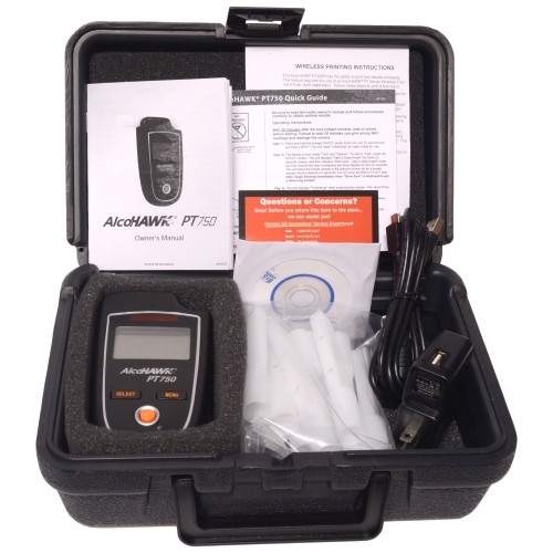 AlcoHAWK PT750 Breathalyzer Professional Kit