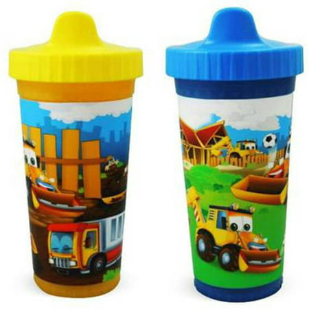 Usa Kids Construction Pals Insulated Sippy Cups  Bpa Free  2 Pack