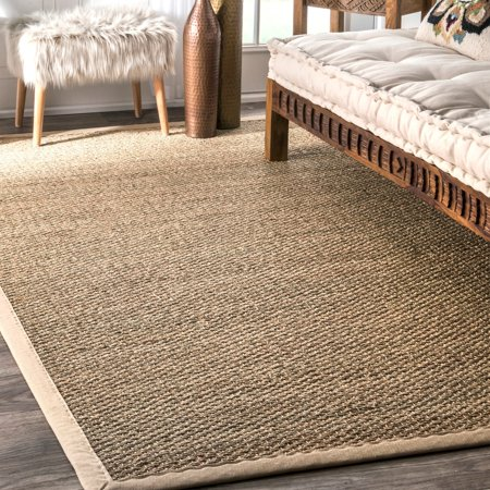 The Gray Barn  Parsons Green Handmade Natural Fiber Cotton Border Seagrass Area Rug - 2'6 x 4' ()