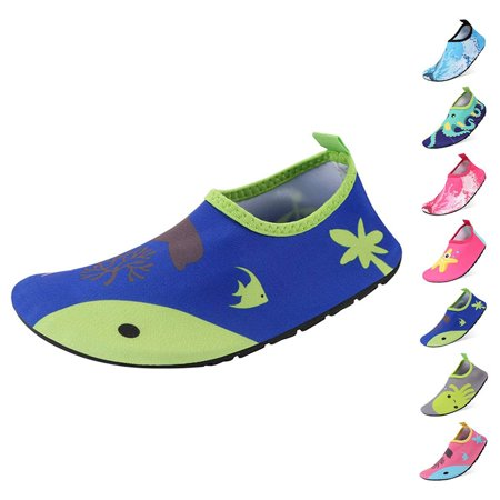 6dddc1b09c98 Kids Girls Boys Swim Water Shoes Barefoot Aqua Socks Shoes for Beach Pool Surfing  Yoga Walking Indoor Outdoor Sports (05  - 26 27) - Walmart.com