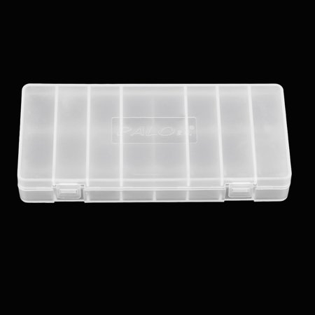 1Pc PALO Transparent AA Battery Storage Box Case High-quality Container Durable Battery Holder with Lid Holds 8 AA / AAA Batteries - image 4 of 7