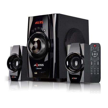 Archos Fm Remote - Axess Mini Bluetooth Entertainment System w/ FM Radio, USB, SD, AV Input, and Remote - Black