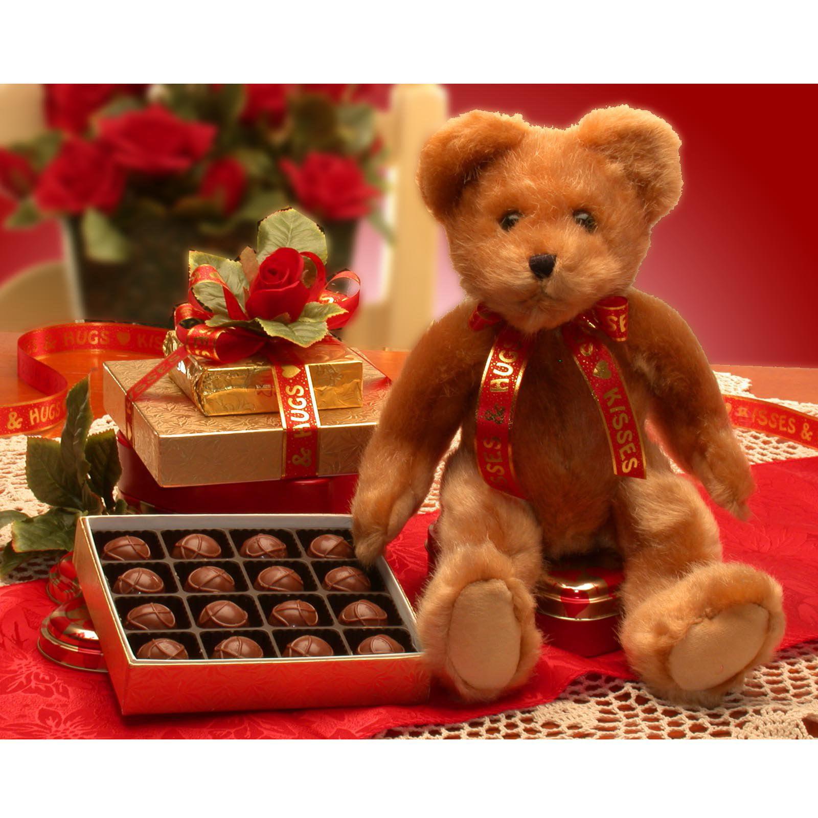 valentine teddy bear gift set walmartcom