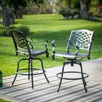 Belham Living Sorrento Bar Height Swivel Patio Dining Chairs - Set of 2