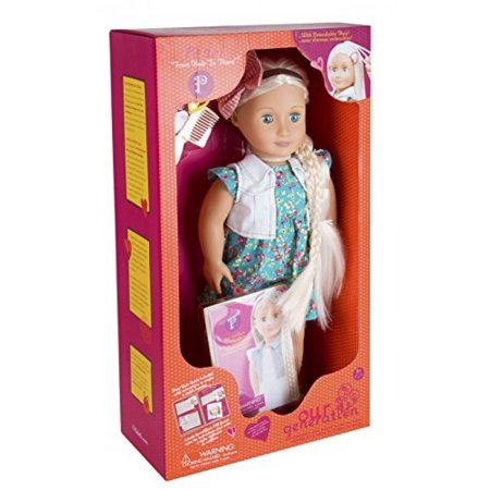 Our Generation Dolls Hair Grow Pearl White Blond Hair And Blue Eyes Doll