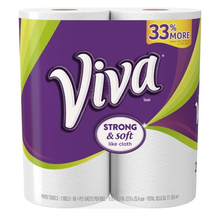 Viva Full Sheet  Big Roll Paper Towels  White  68 Sheets  2 Count