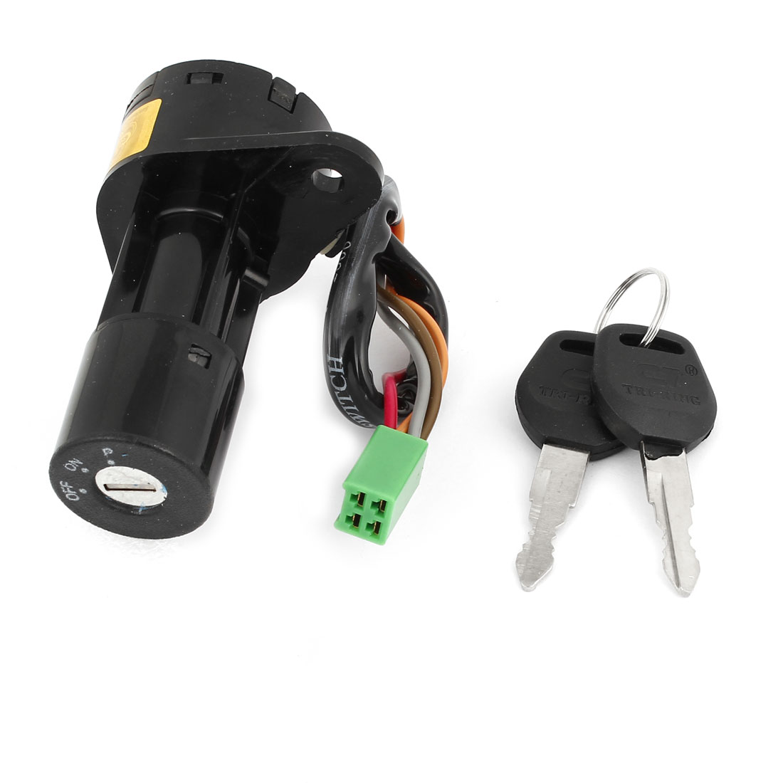 Black Shell 4-pin Terminal Wired Electric Door Lock w 2 Keys for Suzuki GS-125