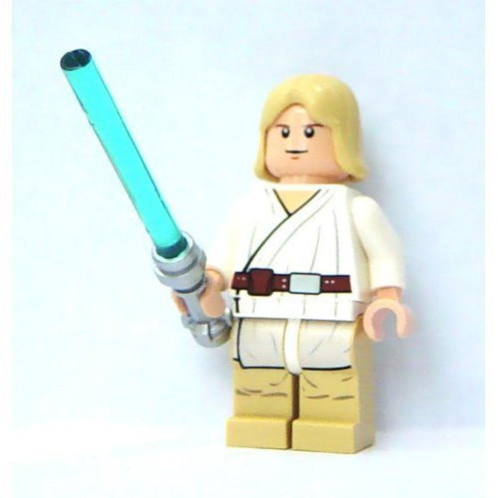 Luke Skywalker (Tatooine) w/ White Pupils & Lightsaber Lego Star Wars Minifigure