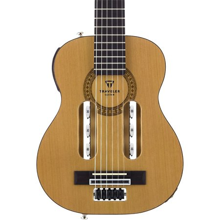 Traveler Ultralight Travel Guitar - Traveler Guitar Escape Classical Nylon-String Acoustic-Electric Guitar Natural
