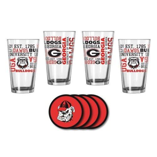 Georgia Bulldogs Spirit Glassware Gift Set by
