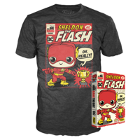 Funko Boxed Tee: The Big Bang Theory - Sheldon as The Flash - L - Summer Convention Exclusive