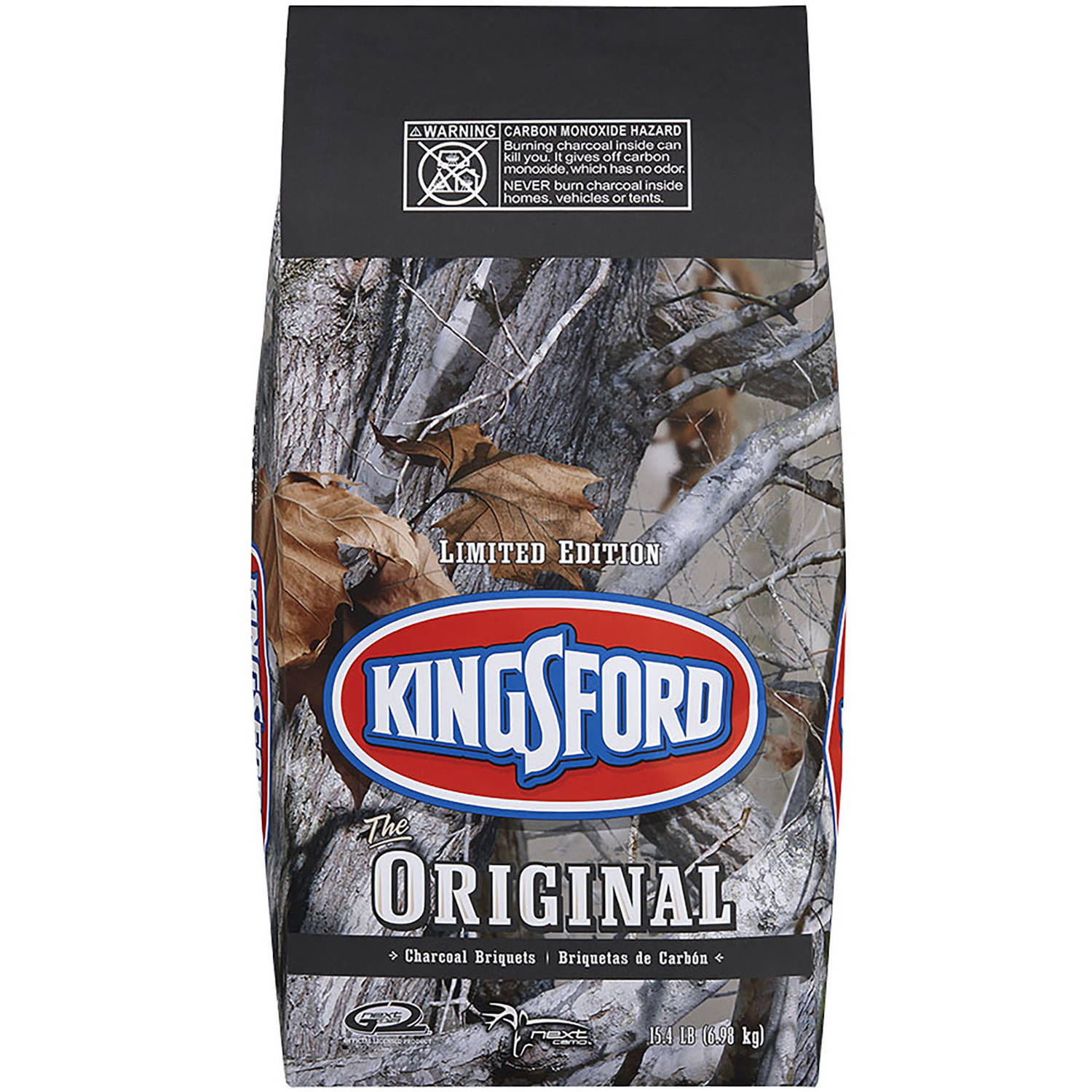 Kingsford Charcoal Briquets, 15.4 lb Limited Edition Camo Bag