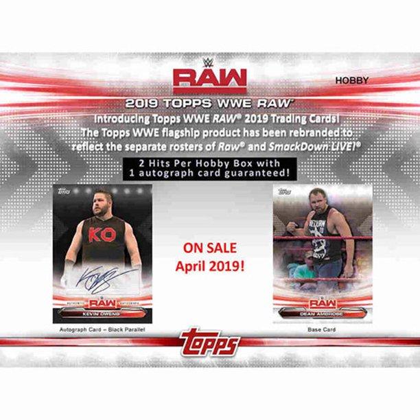2019 Topps Wwe Raw Hobby Box 1 Pack Of 8 Cards Walmart Com Walmart Com