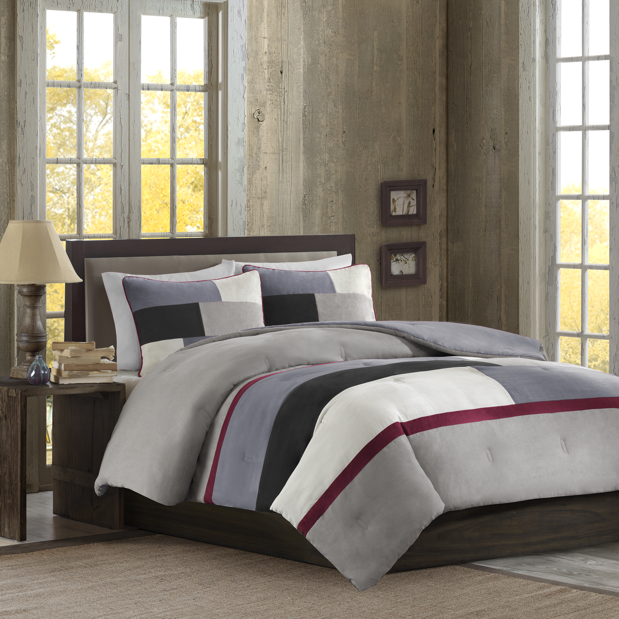 Better Homes & Gardens Full or Queen Microsuede Comforter Mini Set, 3 Piece