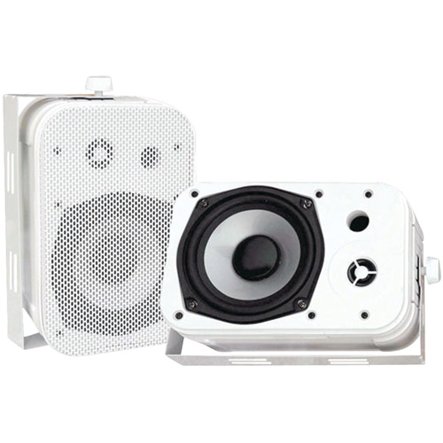 "Pyle PDWR40W 5.25"" Indoor/Outdoor Waterproof Speakers, White (Pair)"